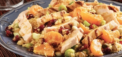 Mandarin Chicken Couscous Salad With Curry Vinaigrette