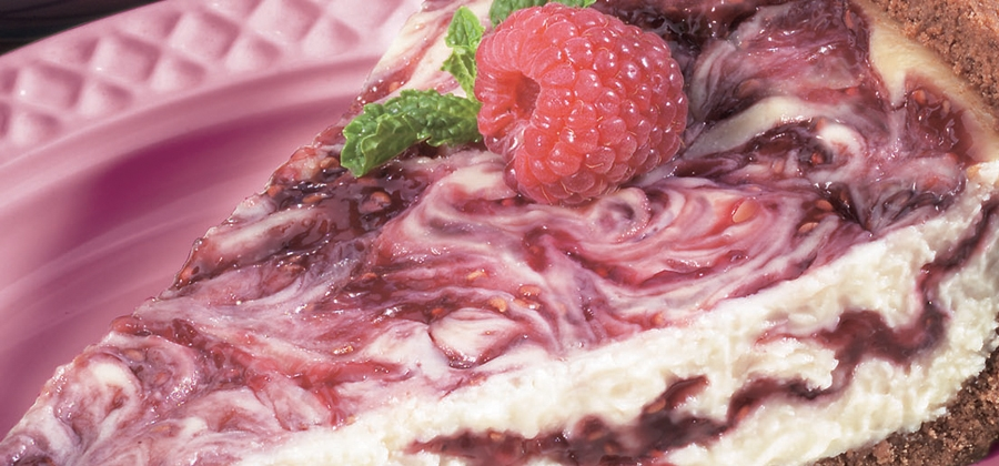 Raspberry Swirl Cheesecake Pie - 03782