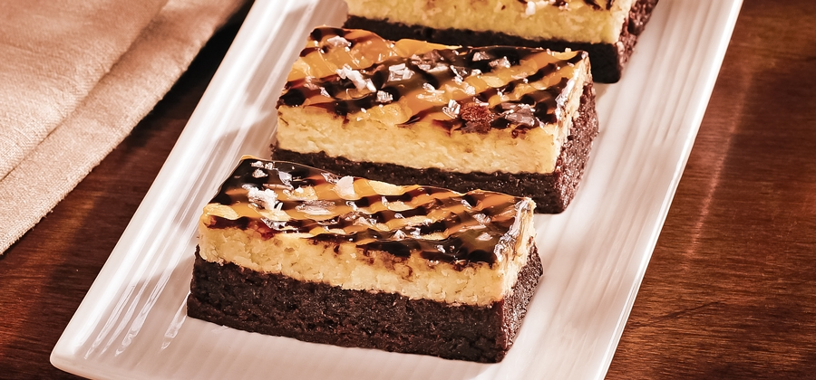 Salted Caramel Cheesecake Brownie Bars