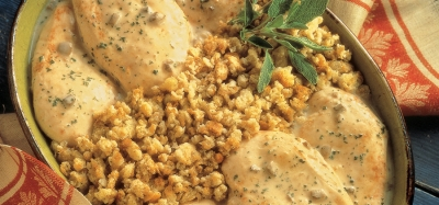 One-Dish Chicken & Stuffing Bake