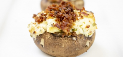 FFES-BLUE CHEESE AND BACON STUFFED MUSHROOMS
