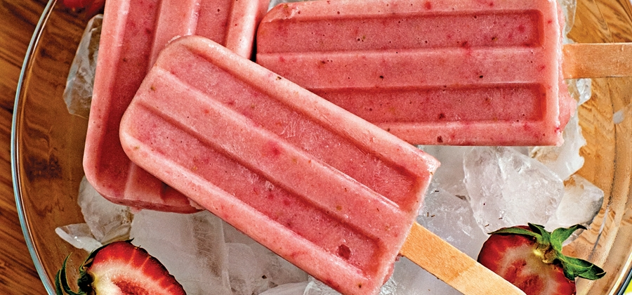 Strawberry Banana Smoothie Ice Pops - 13253