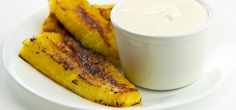 FFES Grilled Pineapple with Lime Dip