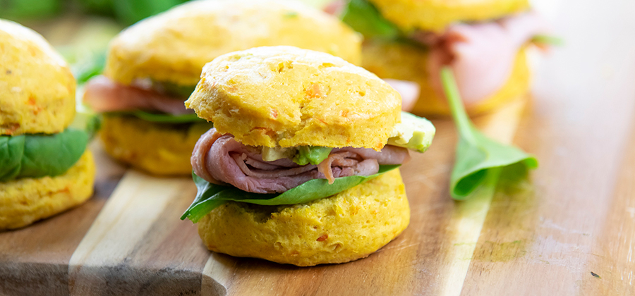 FFES-Mini Ham and Avocado Biscuit Sliders