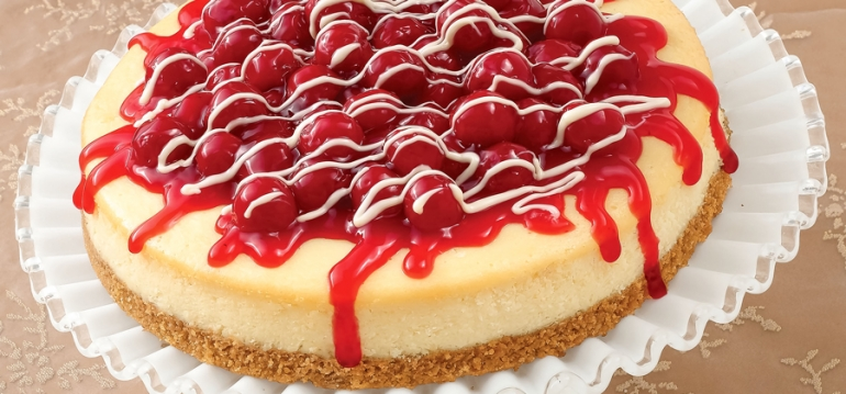White Chocolate Cherry Cheesecake