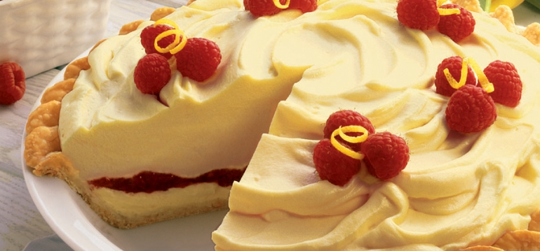 Lemon Raspberry Ribbon Pie - 04510