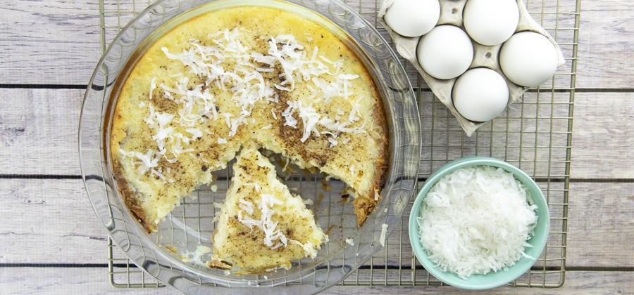 Coconut Custard Pie - FFES Produced