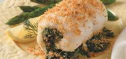 Spinach-Stuffed Fish Fillets