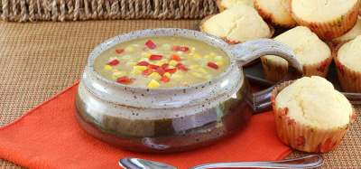 Corn Chowder with Poblano