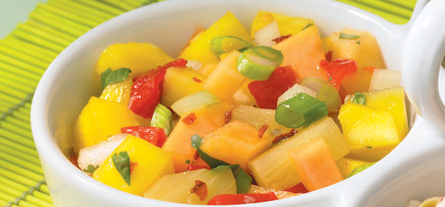 Sweet and Hot Tropical Salsa for Brats