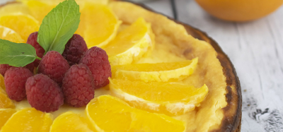 Lemon Cheesecake with Fresh Fruit