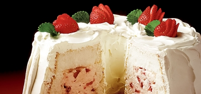 Strawberry Tunnel Cream Cake