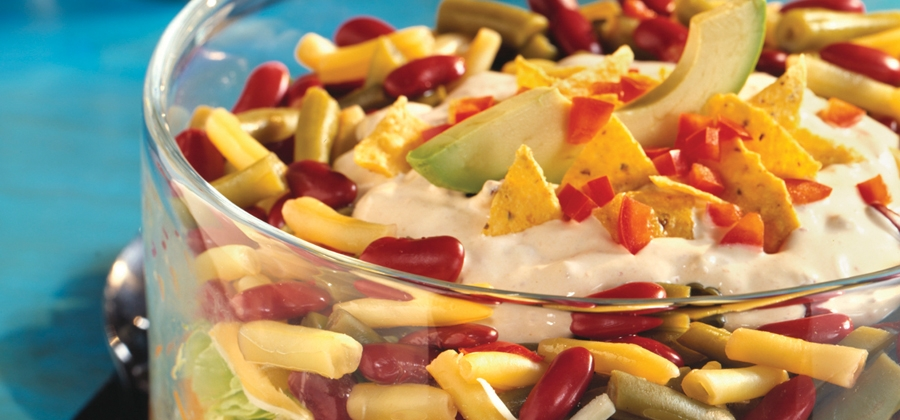 Tex-Mex Layered Bean Salad - F1752